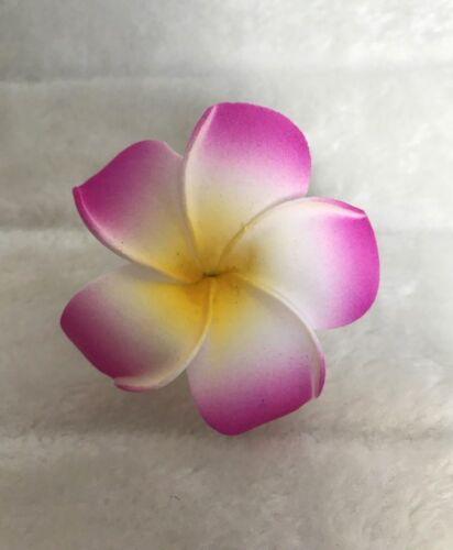 1 Pince clip barrette cheveux fleur frangipane frangipanier hawai couleur choix