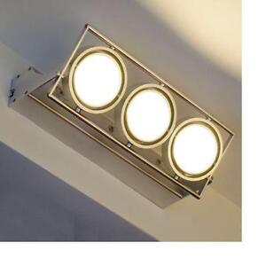 Lampe-led-applique-mur-15x1w-lumiere-chaude-3000K-luminaire-spot-230V-projecteur