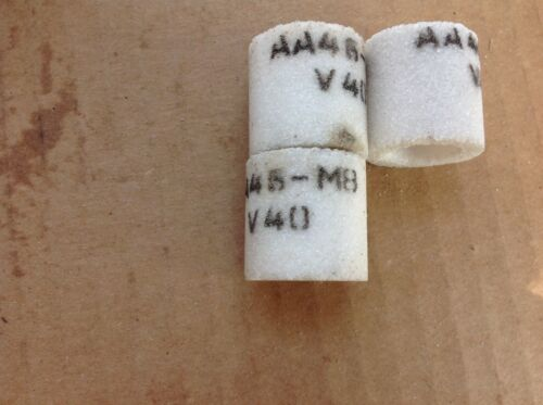 """AA46-M8 V40 Lot Of 3 Small Recessed Gringing Wheel 1/"""" X 1/"""" Long X 3//8/"""" Hole"""