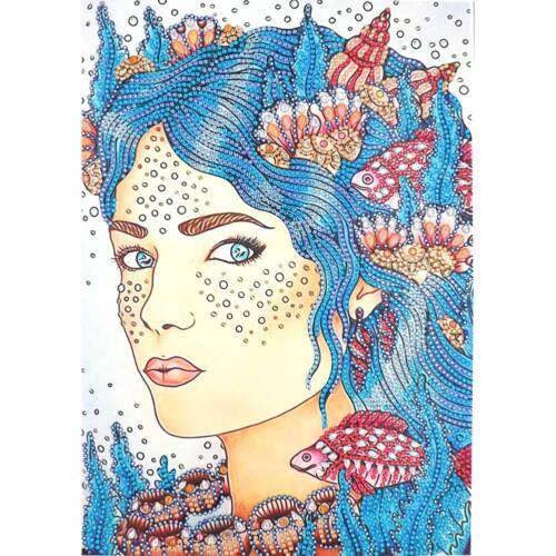 5D DIY Special Shaped Diamond Painting Beauty Cross Stitch Mosaic Kits Wall Arts