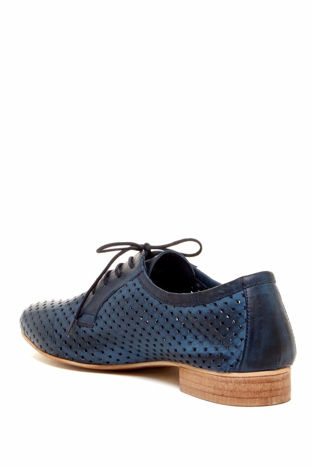 Scarpe casual da uomo  Mariano Renzi Canicatti Perforated Oxford Size 36 Blue Brand New Style #: 4405