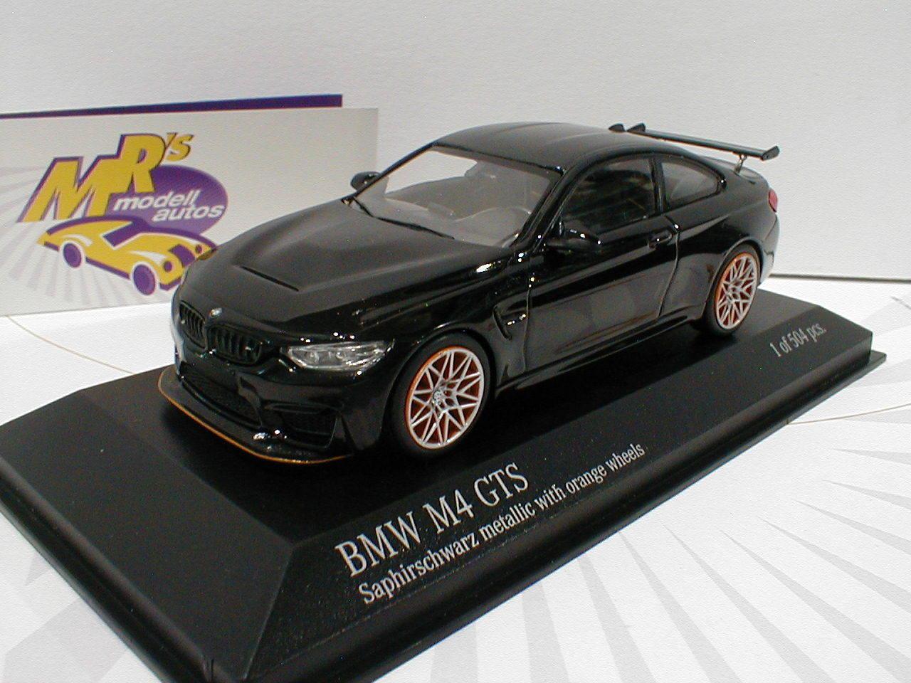 Minichamps 410025222 - BMW M4 GTS Bj. 2016 schwarzmetallic 1 43 Lim.Ed. 504 pc  | Angemessener Preis