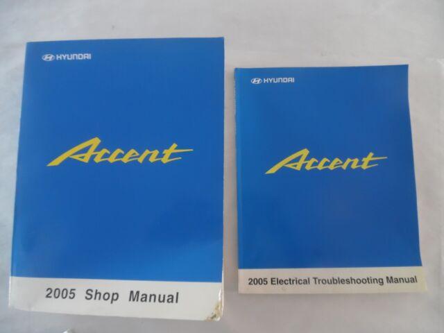 2005 Hyundai Accent Service Manual 2 Volume Set Includes