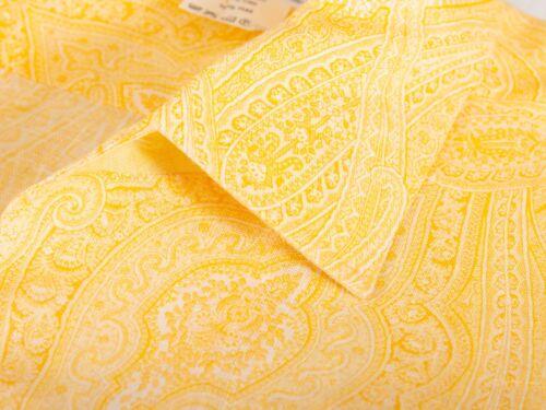 Loro Piana Light Orange Paisley Linen Shirt Medium
