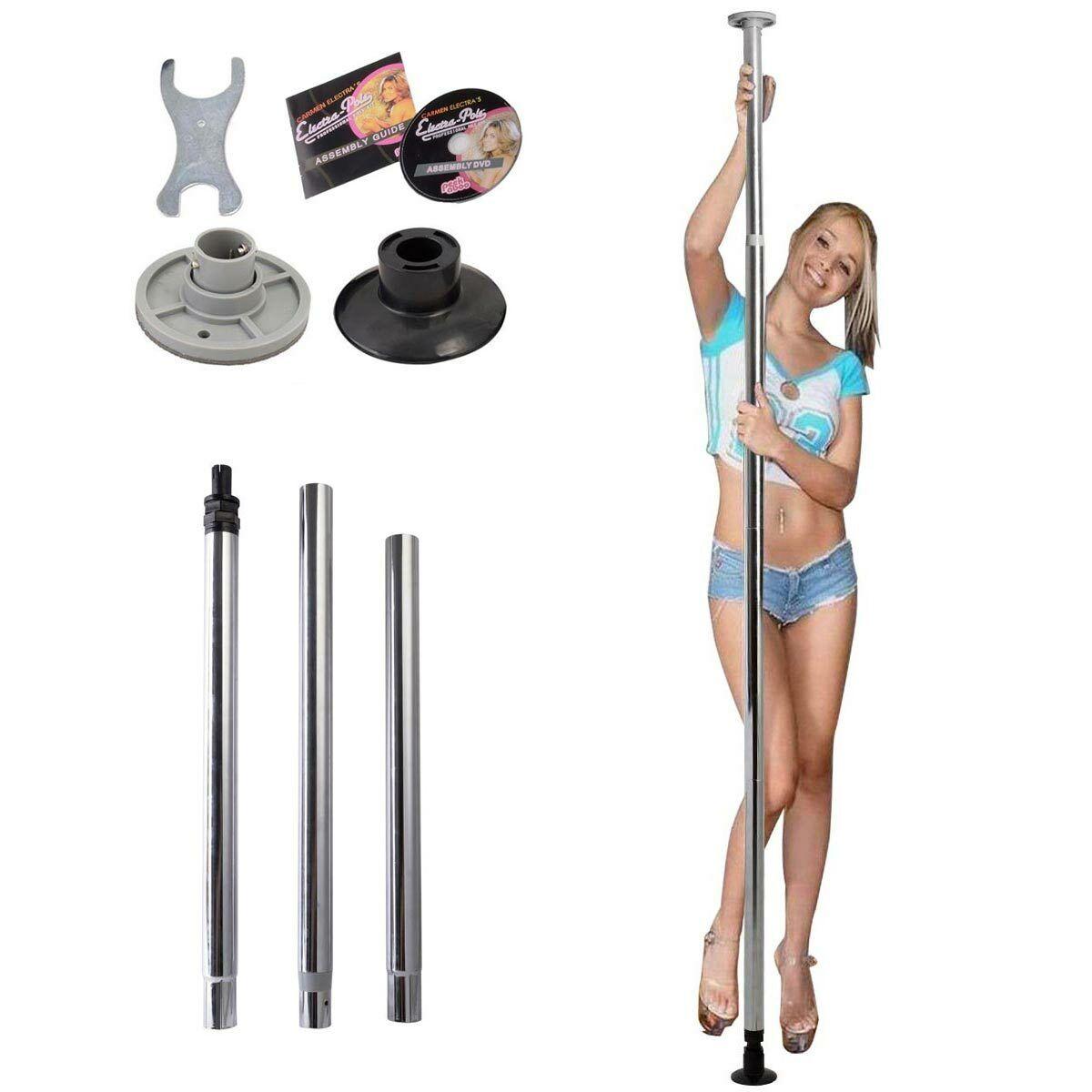 Barre Pole Dance portable avec Kit Assemblage Hauteur Réglable en 2.2-2.6m