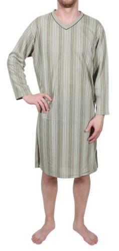 XXXL Men/'s Nightshirt Long Sleeve Pyjama Sleepshirt Nightwear COTTON L