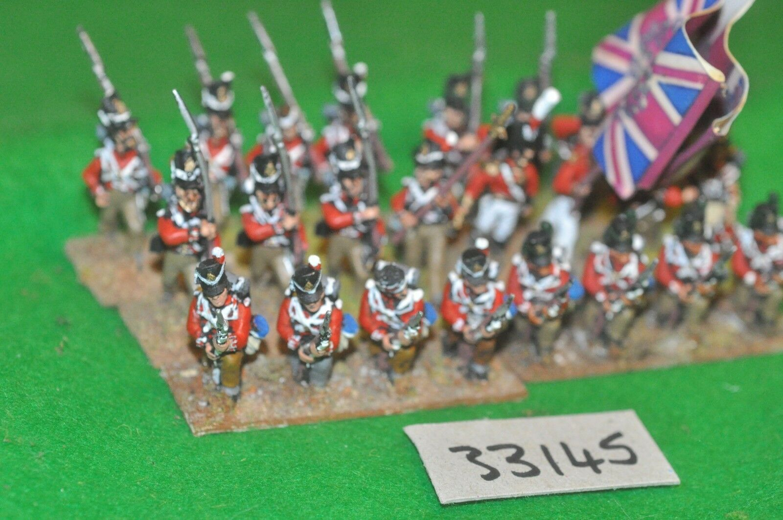 25mm napoleonic   british - line regt 33rd 24 figures - inf (33145)