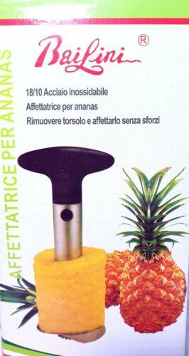 SBUCCIA AFFETTATRICE TAGLIA ANANAS ACCIAIO INOX 18//10 TOGLI TORSOLO CUCINA