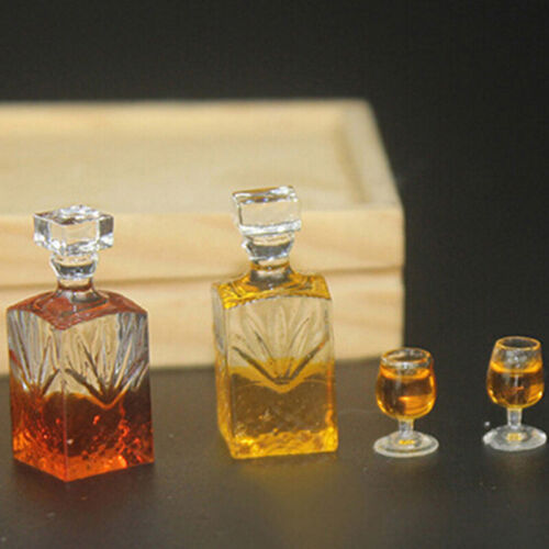Dollhouse accessories miniature model props simulation wine bottle combinat BP