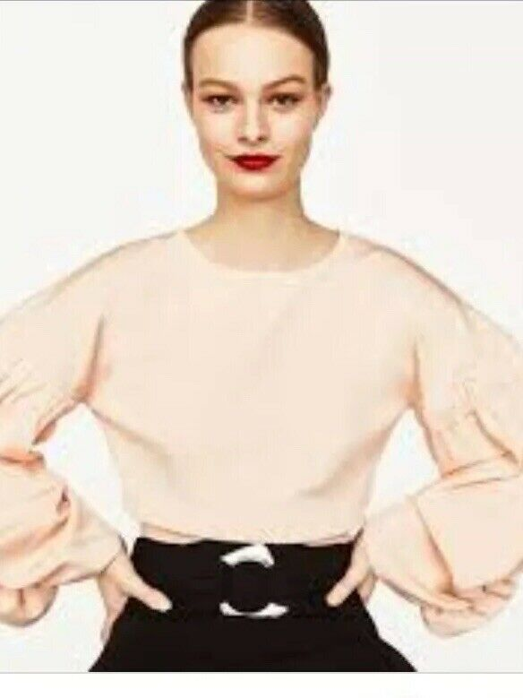 Zara Knitwear NWT  Crop Sweater Peach Size M