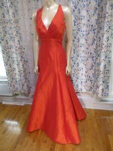 Jim-Hjelm-Trumpet-Size-12-Prom-Bridesmaid-evening-Red-formal-dress-Mermaid