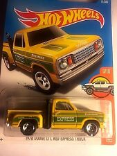 Hot Wheels 1978 Yellow Dodge pick up diecast metal car toy scale 1/64 Mattel 3+.