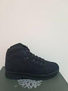 133aefde8c4 Details about Timberland Men's Euro Hiker Mid Hiker Black Boots