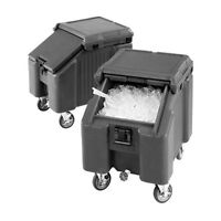 Cambro ICS100L110 100 lb Capacity SlidingLid Mobile Ice Caddy (Black)
