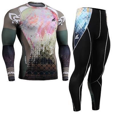 FIXGEAR CFL/P2L-B42 SET Compression Shirts & Pants Skin Tights MMA Training Gym