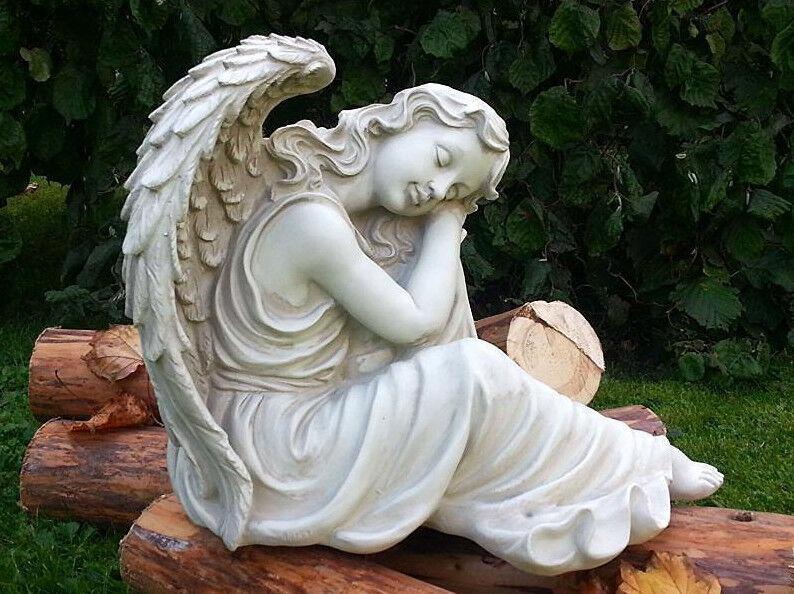 Célestes Cadeau élégant sculpture endormi Ange personnage Jardin Accessoire