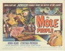 """THE MOLE PEOPLE"" ORIGINAL TITLE LOBBY CARD MONSTER SCI FI HORROR UNIVERSAL"