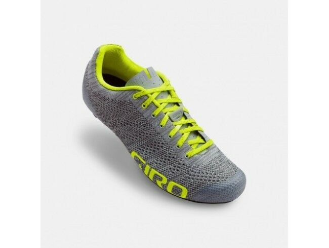 SHOES GIRO EMPIRE E70  KNIT GREY FLUORESCENT YELLOW N   45  fashionable