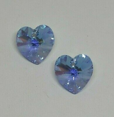 or 14mm Swarovski Crystal Vitrail Light Heart 6228 Pendant; 10mm 1pc 2pc