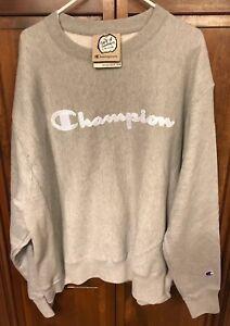 1994ddc1 Image is loading Champion-Reverse-Weave-Men-XL-Crewneck-Sweatshirt-Script-