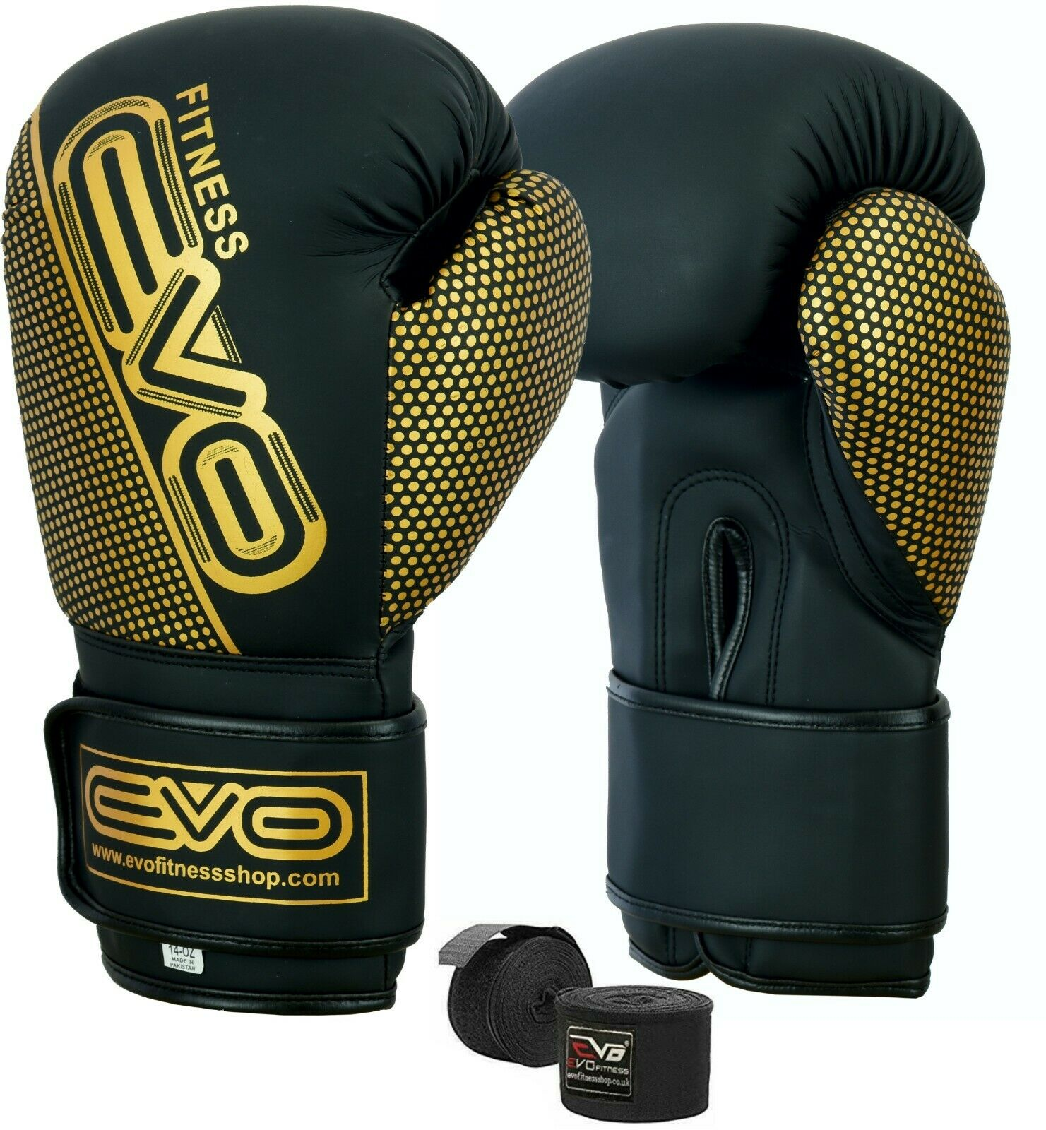 Maya Leather Punch Boxing Gloves Training MMA Fight  Muay Thai Bag Martial Arts