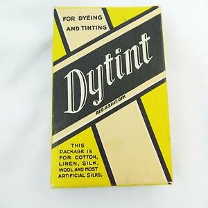 Dytint-Yellow-Fabric-Tint-Box-Approx-1-2-Package-Partly-Used-Scarlet-Color