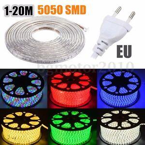 1-20M-5050-SMD-60-LED-IP67-Strip-Guirlande-Bande-Ruban-Silicone-Lampe-Etanche