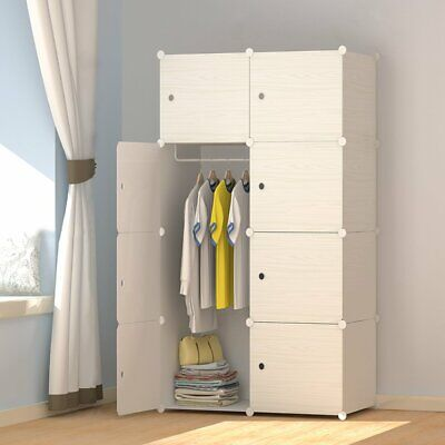 Wood Pattern /Portable Wardrobe Closet for Hanging Clothes ...