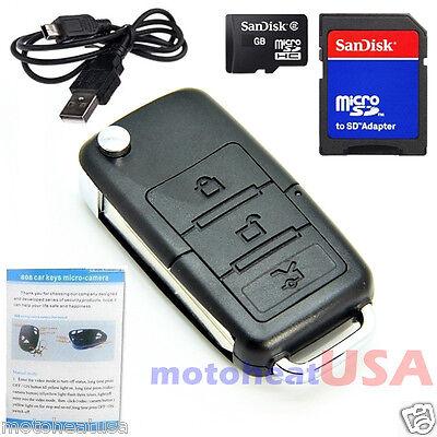 8GB Mini Motion Detection Hidden Spy Cam Camera DVR Keychain Car Recorder
