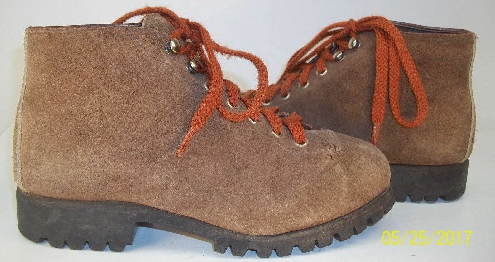 Donna Stivali   6.5 M Brown Up Suede Alpine Lace Up Brown Hiking Walking Ankle Work 2626 f21471