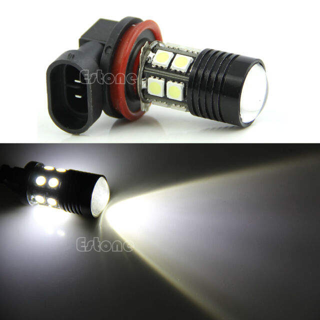 New H11 12-SMD 12W Super White Bright Car Fog Headlight Bulb DRL LED 12V