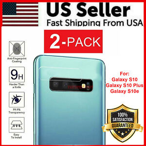 2 Pack Tempered Glass Screen Protector For Samsung Galaxy S10 S10+ S10e Camera