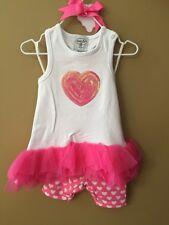 NWT Gymboree Sweetheart Shop Valentine/'s Day Heart Tutu Romper 1PC Baby Girl