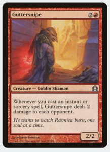 Moderate Play Return to Ravnica MTG X4: Guttersnipe FREE US SHIPPING! U