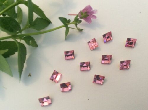 Vintage Czech Square Rhinestone 5x5mm REPAIR CRAFT Post Free Colour Choice