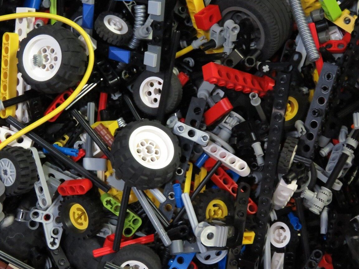 1 kg Lego Technology Mixed Pins Lieftarme etc. Ca. 500 Pcs. Technic Tyres