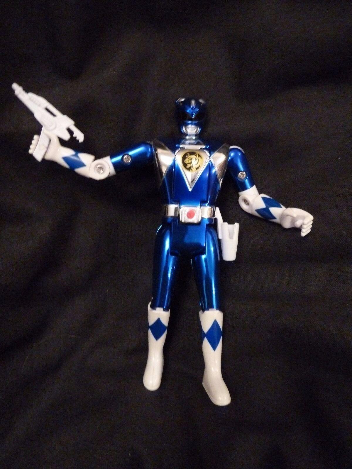 POWER RANGERS Chrome Flip Flip Chrome Head bluee Ranger Movie Limited Edition With Weopon c58385