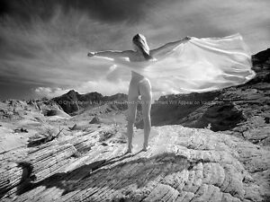 2543-Nude-Woman-Rear-View-Desert-Girl-Wind-Photo-Maher