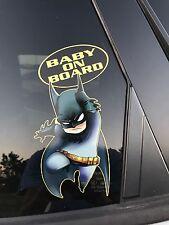 Batman Baby on Board - Baby Batman Vinyl Sticker Window Car Bumper Sticker