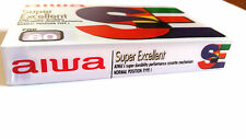 CASSETTE TAPE BLANK SEALED - 1x (one) AIWA frc 60 - made in Turkey