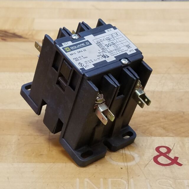 Square D 8910 Dpa 32 Contactor  30 Amp  2 Pole  5hp