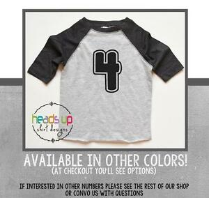 Image Is Loading Raglan 4 Birthday Shirt Toddler Boy Girl