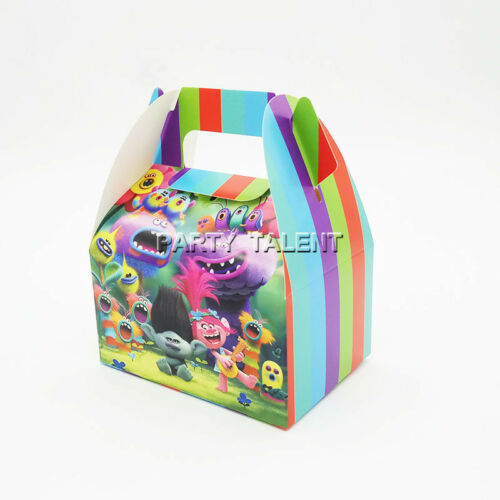 6pcs Trolls Theme Birthday Party Decoration Candy Box for Kids Party Supply