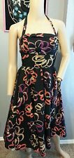 Girls From Savoy Anthropologie Martagon Sketch Floral Retro Vtg Style Dress 2 S