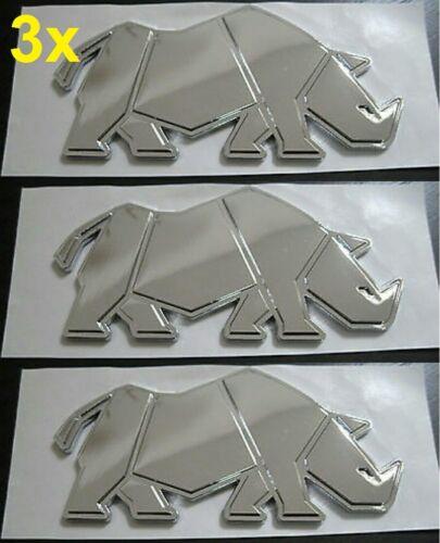 3x Nuevo Original Suzuki Rhino Insignia Cromo Swift Jimny gv VITARA SJ Samurai 3 Pack