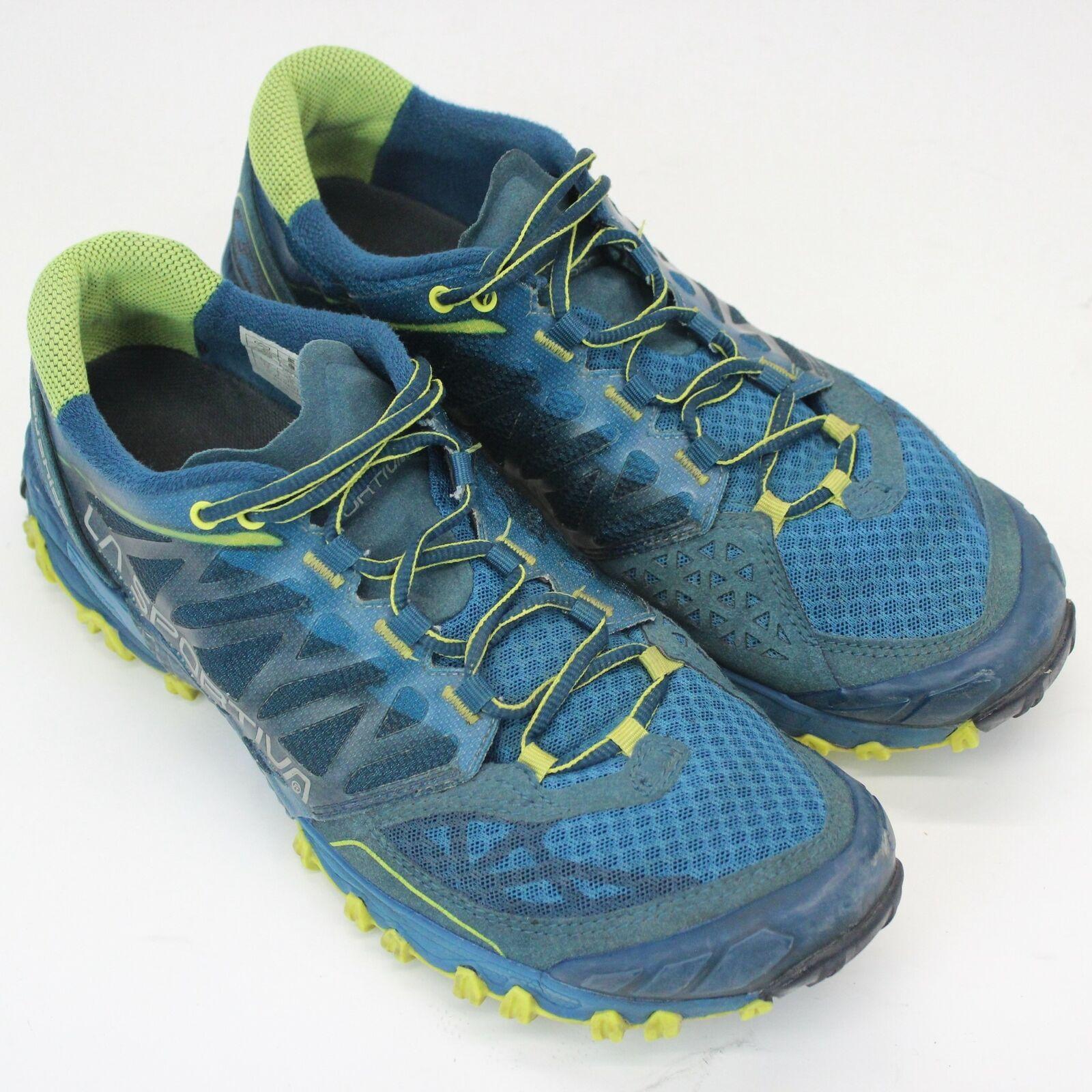 Women's La Sportiva Bushido bluee Trail Runing shoes Size 10 Athletic Sneakers