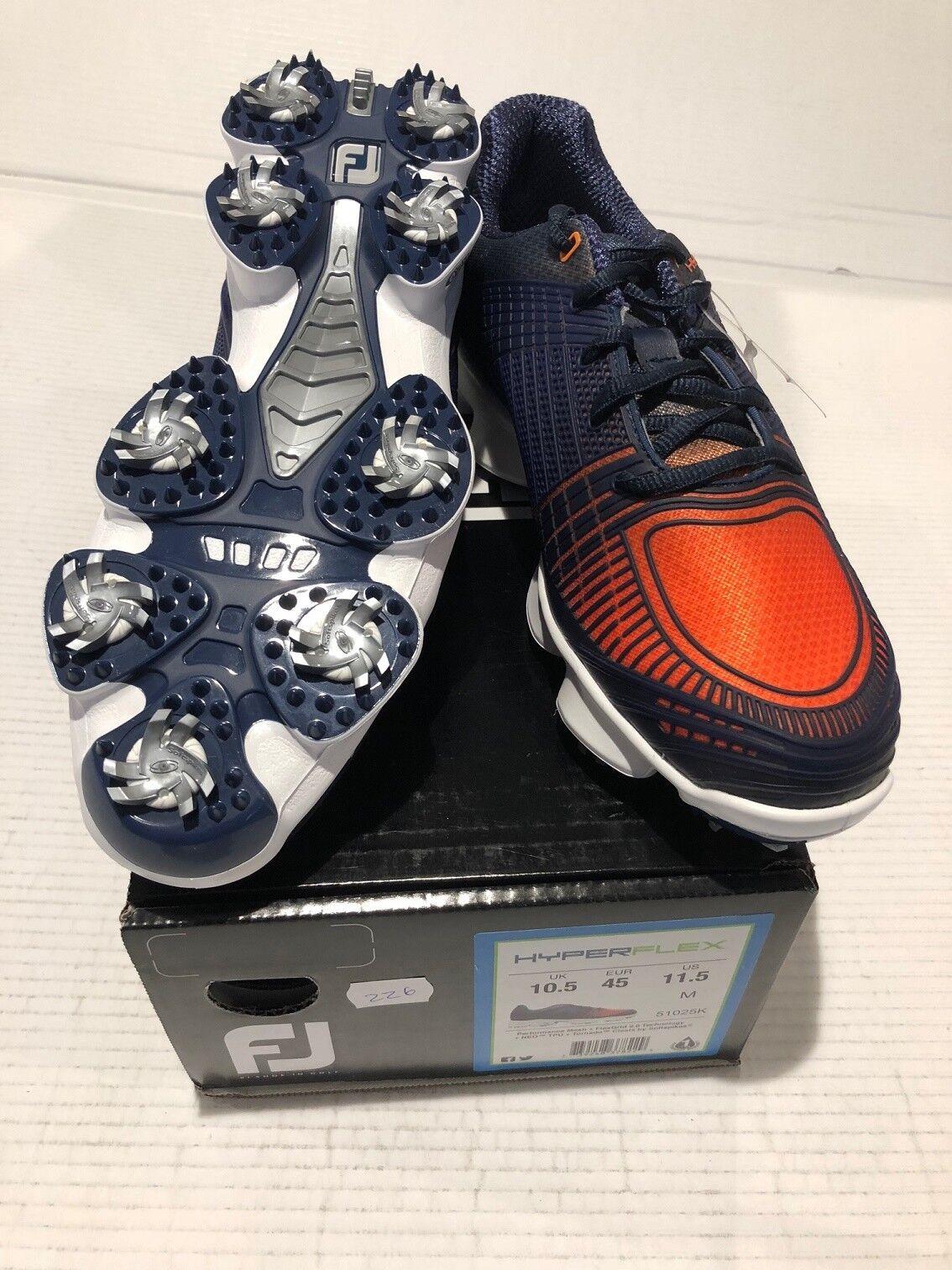 Footjoy  Hyperflex, azul naranja UE 45 10.5 - nuevo directamente desde el pro-shop   Hay más marcas de productos de alta calidad.