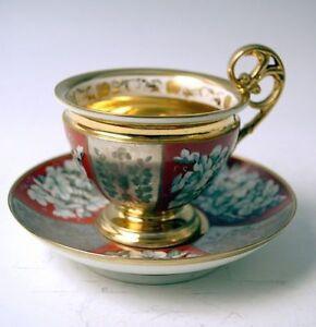 ALT-WIEN-SAMMEL-TASSE-SILBER-AUFLAGE-ROYAL-VIENNA-CUP-SAUCER-BINDENSCHILD-1819