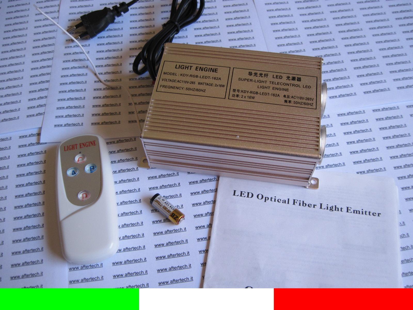 Emisor 18w Doble LED blancoo Cálido para Kit Fibra Óptica Luz Cielo Stellato