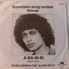 "IZHAR COHEN & THE ""ALPHA-BETA"" A-BA-NI-BI EUROVISION  [F320] 7""SINGLES"